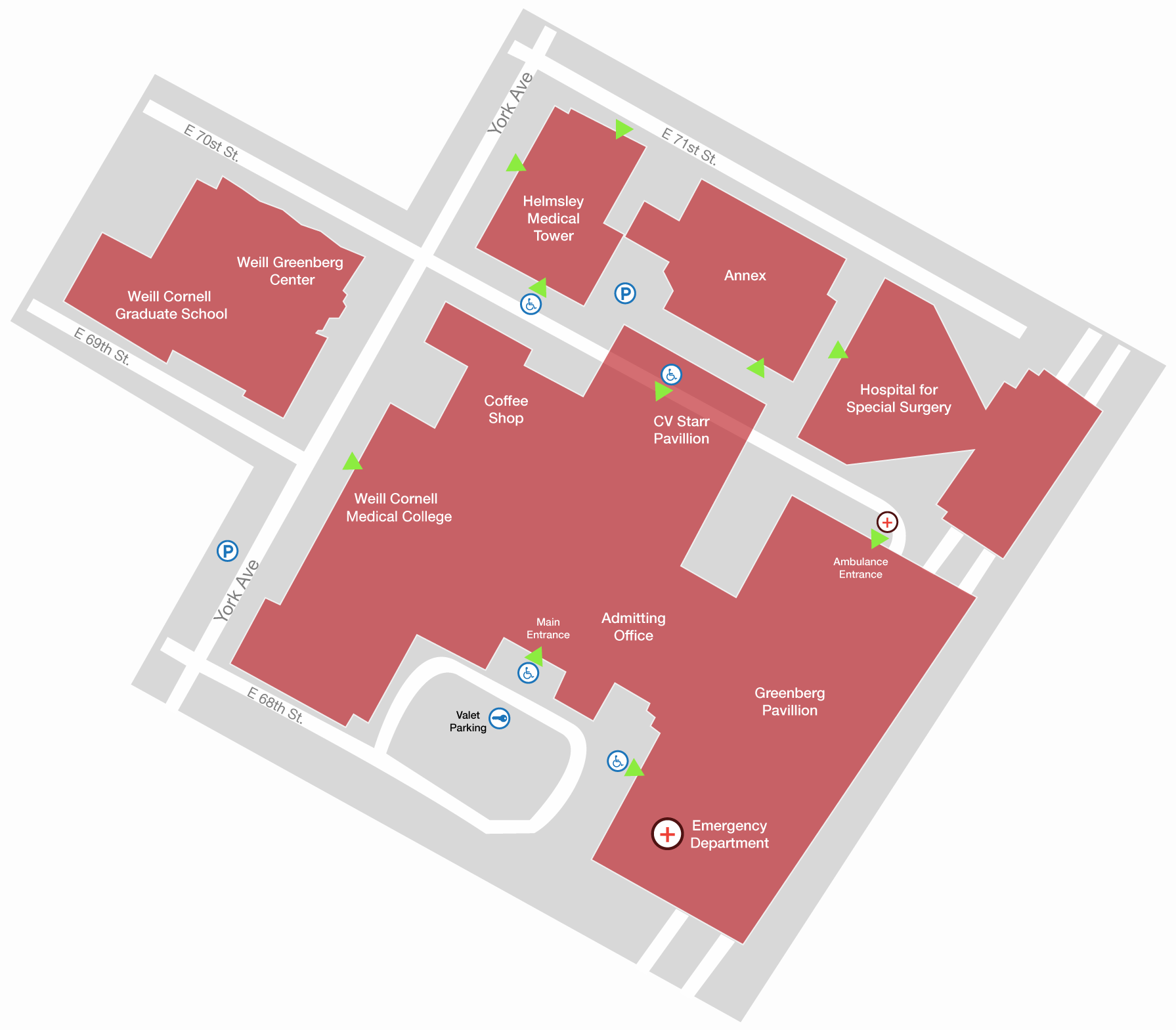 View Map Weill Cornell Medical College In New York City - New york map data